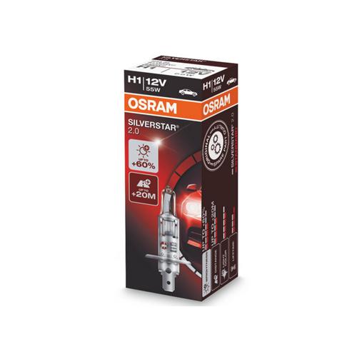 Автолампа / крушка OSRAM H1 64150SV2 SILVERSTAR 2.0 12 V / 55W