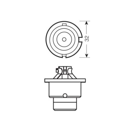 Автолампа / крушка ксенон OSRAM Xenarc Original D4R 66450 42V / 35W