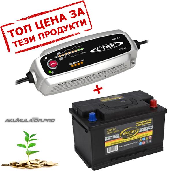 Зарядни устройства CTEK с акумулатори ELECTRA
