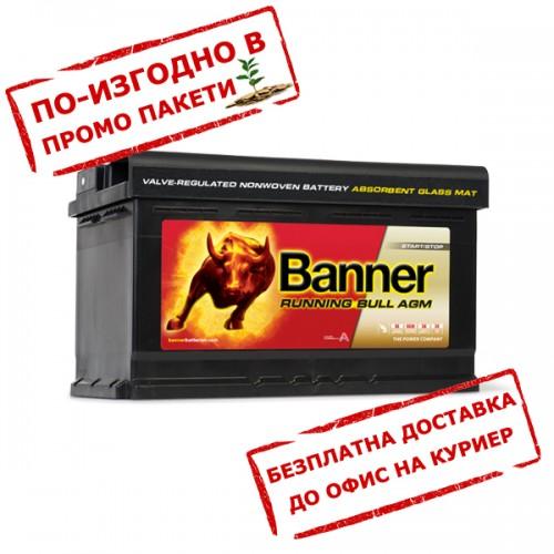Акумулатор BANNER RUNNING BULL AGM 58001 - 80 Ah R+