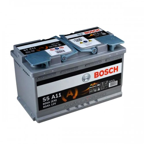 Акумулатор BOSCH S5 A11 AGM 0092S5A110 - 80 Ah R+