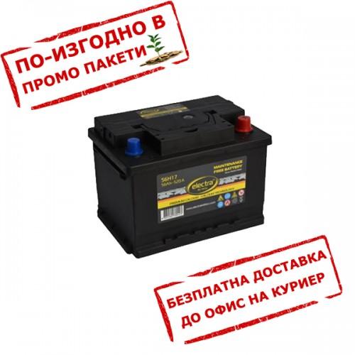 Акумулатор ELECTRA 56H17 56 Ah 480A R+