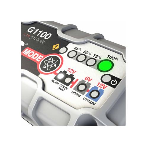 Зарядно NOCO G1100 1.1A 6/12V с акумулатор ELECTRA 41H17 41Ah 400A R+