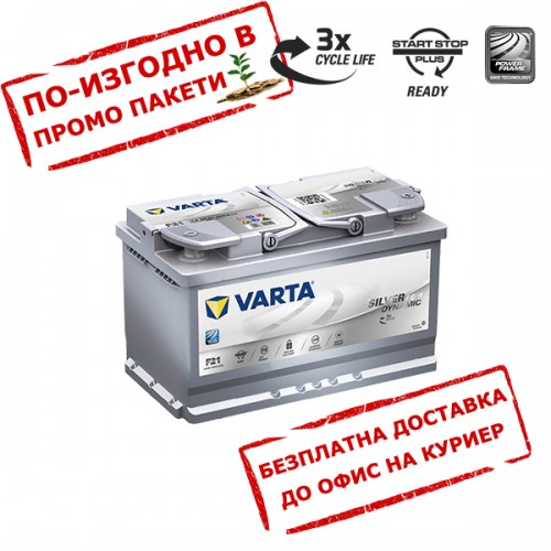 Акумулатор VARTA AGM 80Ah 800A R+