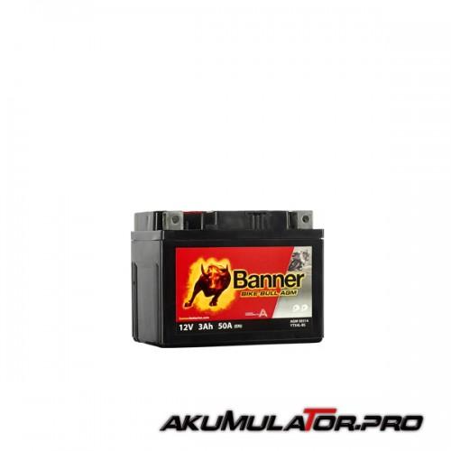 Акумулатор BANNER YTX4L-BS 12V 3Ah R+
