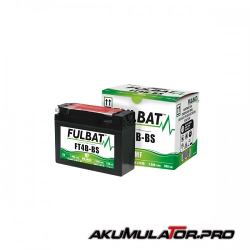 Акумулатор FULBAT FT4B-BS-12V 2.4Ah R+