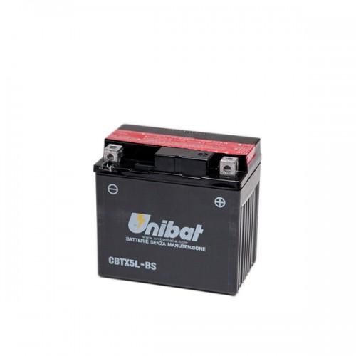 Акумулатор UNIBAT CBTX5L-BS - 12 V / 4 Ah / R +