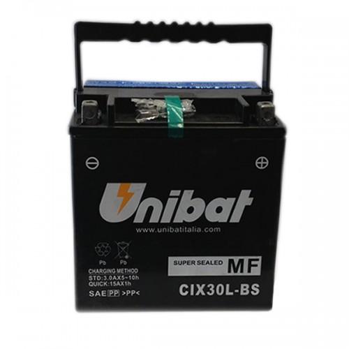 Акумулатор UNIBAT CIX30L-BS-12 V / 30 Ah / R+