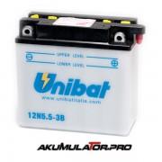 Акумулатор UNIBAT 12N5.5-3B - 12 V / 6 Ah R+