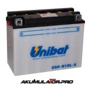 Акумулатор UNIBAT C50-N18L-A - 12 V / 20 Ah R+