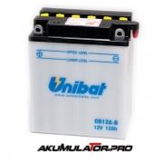 Акумулатор UNIBAT CB12A-B - 12 V / 12 Ah L+