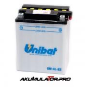 Акумулатор UNIBAT CB14L-B2 - 12 V / 14 Ah R+