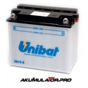 Акумулатор UNIBAT CB16-B - 12 V / 19 Ah L+