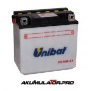 Акумулатор UNIBAT CB16B-A1 - 12 V / 16 Ah L+