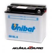 Акумулатор UNIBAT CB16L-B - 12 V / 19 Ah R+
