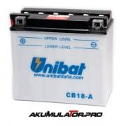 Акумулатор UNIBAT CB18-A - 12 V / 18 Ah L+
