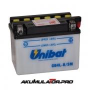 Акумулатор UNIBAT CB4L-B - 12 V / 4 Ah R+