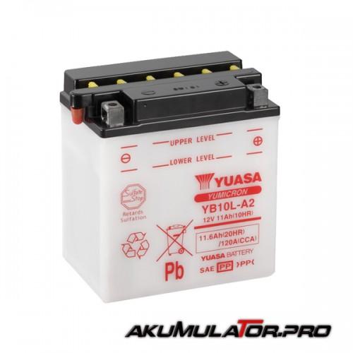 Акумулатор YUASA YB10L-A2 12V 11.6Ah R+