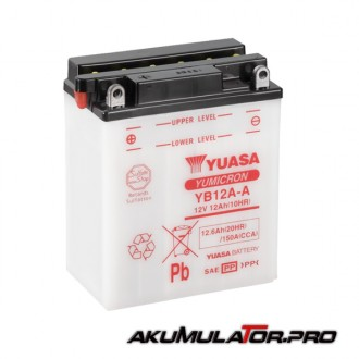 Акумулатор YUASA YB12A-A 12V 12.6Ah L+