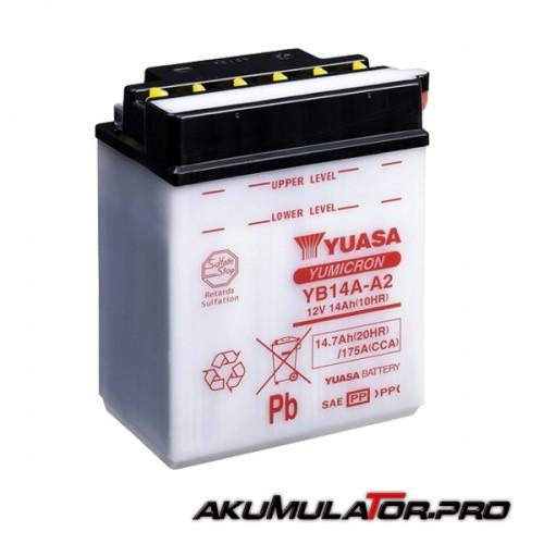 Акумулатор YUASA YB14A-A2 12V 14.7Ah L+