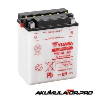 Акумулатор YUASA YB14L-A2 12V 14.7Ah R+
