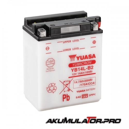 Акумулатор YUASA YB14L-B2 12V 14.7Ah R+