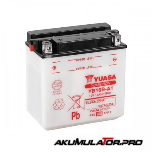 Акумулатор YUASA YB16B-A1 12V 16.8Ah L+