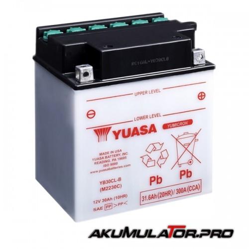Акумулатор YUASA YB30CL-B 12V 31.6Ah / R+