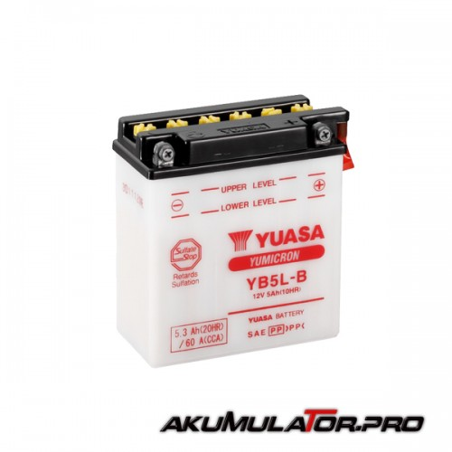Акумулатор YUASA YB5L-B 12V 5.3Ah R+