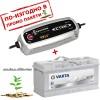Зарядно CTEK MXS 5.0 5A 12V с акумулатор VARTA Sylver Dynamic 110Ah 920A 190mm R+
