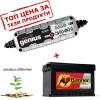 Зарядно NOCO G3500 3.5A 6/12V с акумулатор BANNER 77Ah 680A R+