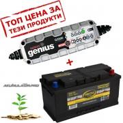 Зарядно NOCO G3500 3.5A 12/24V с aкумулатор ELECTRA 92H19 92Ah 800A R+