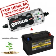 Зарядно NOCO G7200 7.2A 12/24V с акумулатор ELECTRA 85H17 85Ah 780A R+
