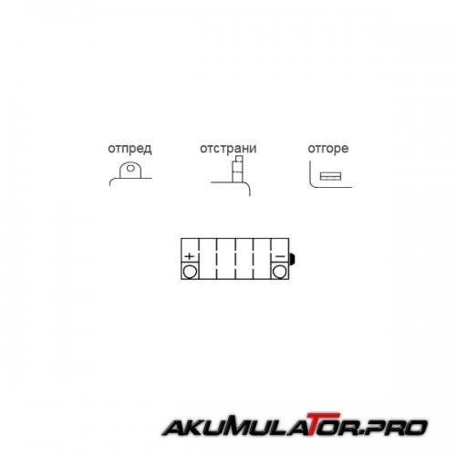 Акумулатор FULBAT FB9-B 12V 9Ah L+
