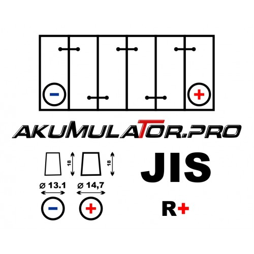 Акумулатор BANNER PowerBull P4523 JIS 45Ah 390A R+